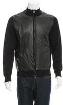 Salvatore Ferragamo Wool Leather-Trimmed Jacket