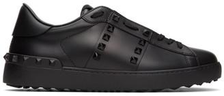 Valentino Black Garavani Rockstud Untitled Open Sneakers