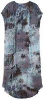 Raquel Allegra Shirred Tie-Dye Dress