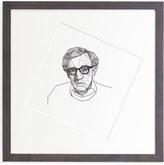 "Jonathan Adler Kunath ""Woody Allen"" Original Framed Print"