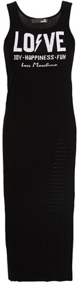 Love Moschino Jacquard And Ribbed-knit Midi Dress
