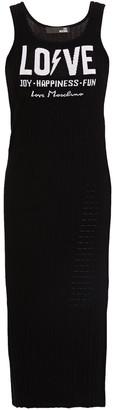 Love Moschino Ribbed Jacquard-knit Midi Dress
