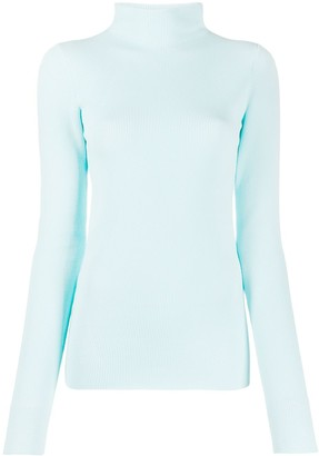 Helmut Lang Knitted Long Sleeve Roll Neck Top