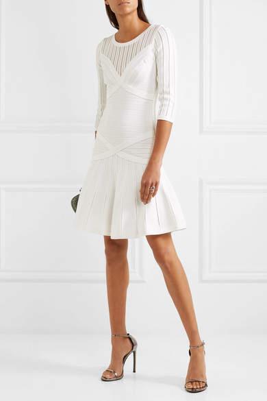 Herve Leger Bandage Dress - Cream
