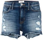 Hudson Soko distressed denim shorts - women - Cotton/Polyurethane - 26