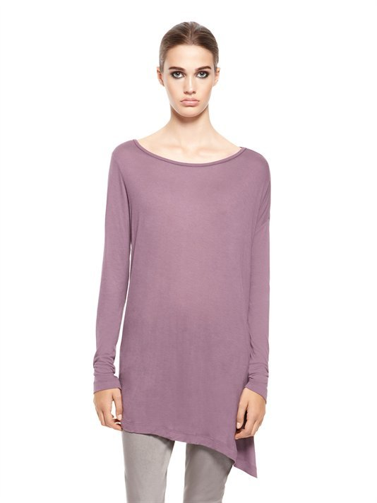 DKNY DKNYpure Asymmetric Drop Shoulder Boatneck Tee