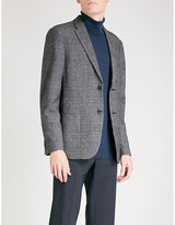 Michael Kors Glen Check-patterned Regular-fit Cotton-blend Jacket