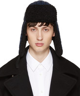 Maison Margiela Navy Nylon & Wool Aviator Hat