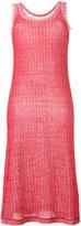 Maison Margiela frayed edge knitted dress - women - Cotton/Linen/Flax - 46