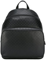 Emporio Armani embossed logo pattern backpack - men - Leather - One Size