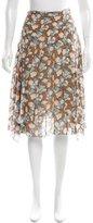 Marc Jacobs Silk Asymmetrical Skirt