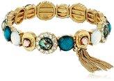 "lonna & lilly Life's A Gem"" Worn Gold-Tone and Blue Multi-Stretch Bracelet"
