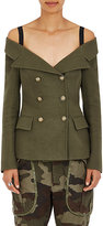 Faith Connexion Women's Military-Style Off-The-Shoulder Jacket-GREEN