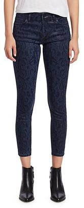Joe's Jeans The Charlie Python-Print Skinny Ankle Jeans