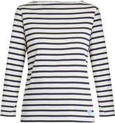 Orcival Breton-striped cotton and silk-blend top
