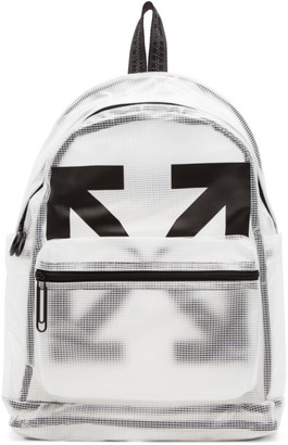 Off-White White and Black Arrows PVC Backpack