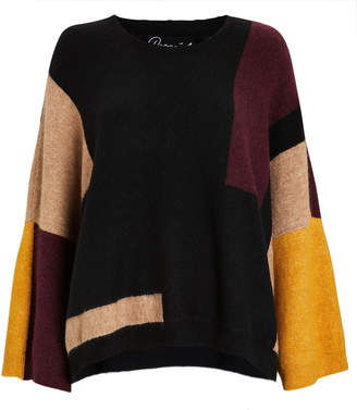 Parrish Justus Colorblocked Wool-Blebnd Sweater