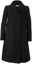 Double-breasted brushed wool coat