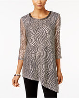 JM Collection Embellished Asymmetrical Top, Only at Macy's