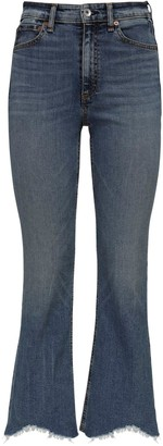 Rag & Bone Nina High Waist Flared Denim Jeans