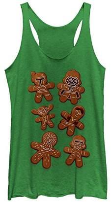 Fifth Sun Star Wars Women's Christmas Gingerbread Cookies Racerback Tank Top