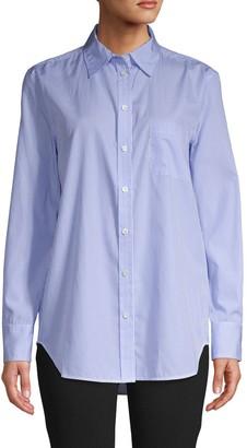 Equipment Pinstriped Cotton Shirt