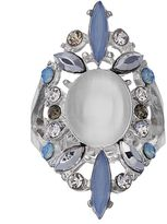 JLO by Jennifer Lopez Oval Cabochon & Marquise Stretch Ring