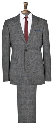 Dorothy Perkins Womens **Burton Grey And Camel Highlight Skinny Fit Check Suit Jacket, Grey