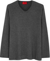 Hugo Slack Grey Fine-knit Jumper