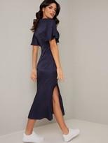 Chi Chi London Dalisay Dress - Navy