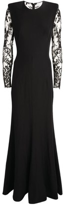 Alexander McQueen Lace-Sleeve Gown