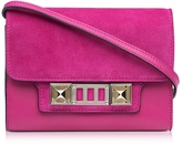 Proenza Schouler PS11 Peony Leather and Suede Wallet w/Shoulder Strap