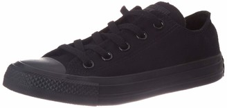 Converse Unisex Adults' Ctas Mono Ox Sneakers Black(Monochrome) 3 UK