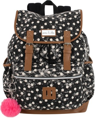 Emma & Chloe Drawstring Buckle Backpack