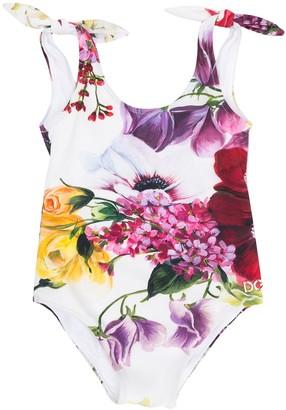 Dolce & Gabbana Kids Flora Print Swimsuit