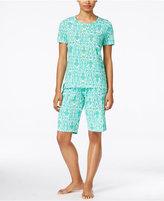 Lauren Ralph Lauren Print T-Shirt and Bermuda Shorts Pajama Set