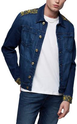 True Religion Men's Denim Jackets GOUD - Fresh In Blue No Flap Denim Jacket - Men