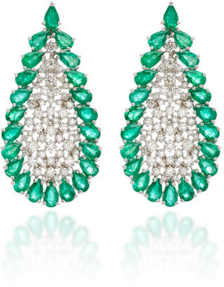 Sutra Emerald And Diamonds Earrings