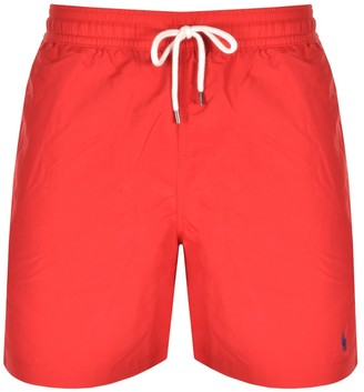 Ralph Lauren Traveller Swim Shorts Red