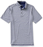 Bobby Jones Golf XH2O Sutton Stripe Stretch Jersey Short-Sleeve Polo Shirt