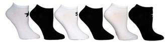 Steve Madden Ladies 6PK Solid Star and Logo Low Cut Socks