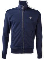 Moncler colour block zipped sweatshirt - men - Cotton/Nylon/Polyamide - L