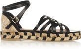Castaner Rita leather and canvas espadrille sandals