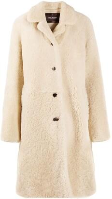Neil Barrett Single-Breasted Shearling Coat