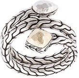 John Hardy Sterling silver and 18kt bonded yellow gold Classic Chain hammered coil ring