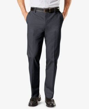 Dockers Signature Lux Cotton Straight Fit Creased Stretch Khaki Pants