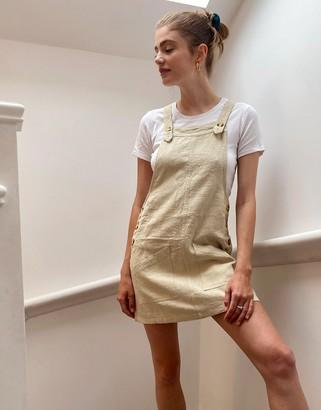 Rusty Heartbreaker pinafore dress in cream