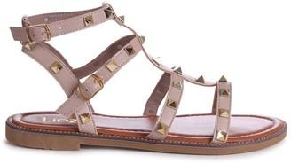 Linzi BILLIE - Taupe Studded Gladiator Sandal With Embellished Sole