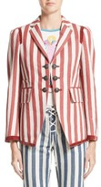 Roberto Cavalli Women's Stripe Hemp & Cotton Blazer