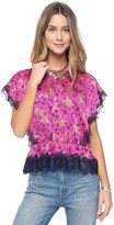 Juicy Couture Outlet - ALEXANDRIA FLORAL TOP WITH LACE